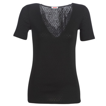 Ropa interior Mujer Camiseta interior Damart FANCY KNIT GRADE 4 Negro