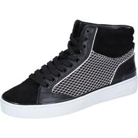 Zapatos Mujer Zapatillas altas MICHAEL Michael Kors sneakers cuero gamuza negro