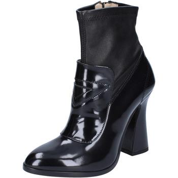 Zapatos Mujer Botines Roberto Botticelli botines cuero cuero brillante negro
