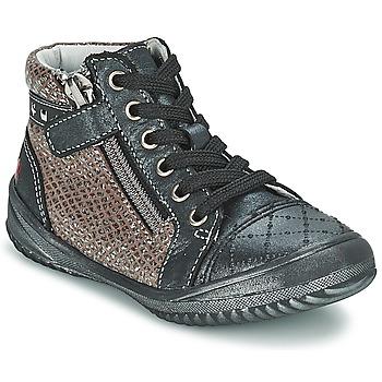 Zapatos Niña Botas de caña baja GBB LEONIA Gris / Plateado