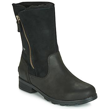 Zapatos Mujer Botas de caña baja Sorel EMELIE FOLDOVER Negro