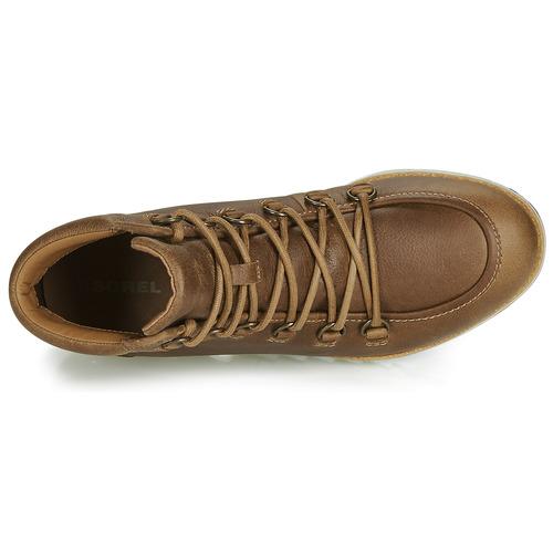 De Mujer Caña Sorel Zapatos Lace Cognac Botas Baja Harlow yb76Yfg