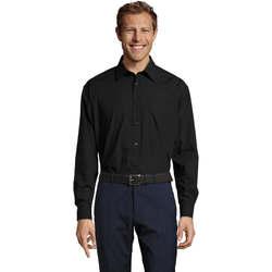 textil Hombre camisas manga larga Sols BALTIMORE WORK Negro