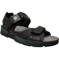 Zapatos Hombre Sandalias de deporte Mephisto Shark Cuero negro
