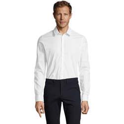 textil Hombre camisas manga larga Sols BLAKE MODERN MEN Blanco