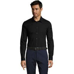 textil Hombre camisas manga larga Sols BLAKE MODERN MEN Negro