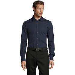 textil Hombre camisas manga larga Sols BLAKE MEN Azul