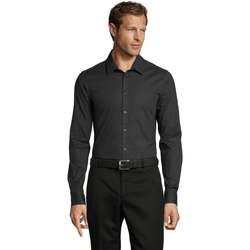 textil Hombre camisas manga larga Sols BLAKE MODERN MEN Gris