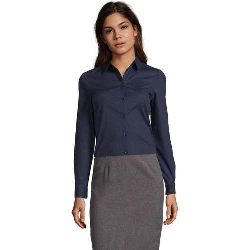 Sols BLAKE WOMEN Azul - Envío gratis | ! - textil camisas Mujer