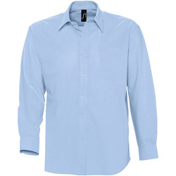 textil Hombre camisas manga larga Sols BOSTON Azul
