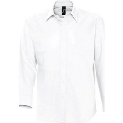 textil Hombre camisas manga larga Sols BOSTON STYLE OXFORD Blanco