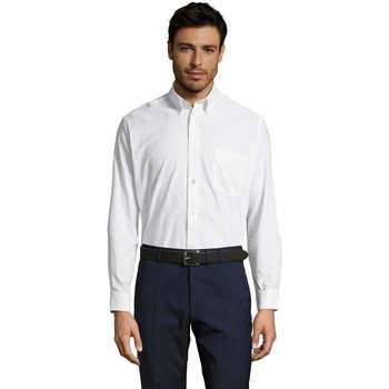 textil Hombre camisas manga larga Sols BOSTON STYLE OXFORD Blanco