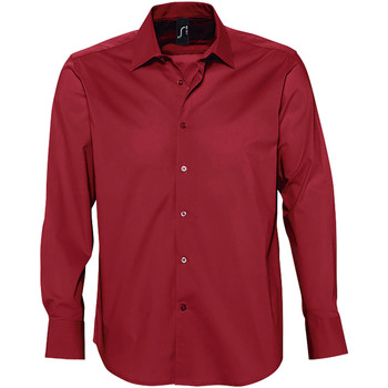 textil Hombre camisas manga larga Sols BRIGHTON Rojo