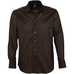 textil Hombre camisas manga larga Sols BRIGHTON Marrón