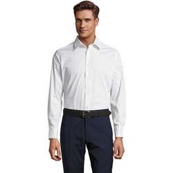 textil Hombre camisas manga larga Sols BRIGHTON Blanco