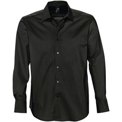 textil Hombre camisas manga larga Sols BRIGHTON Negro