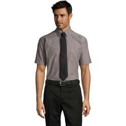 textil Hombre camisas manga corta Sols BRISBANE ORIGINAL WORK Plata