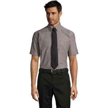 textil Hombre camisas manga corta Sols BRISBANE Plata