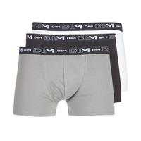 Ropa interior Hombre Boxer DIM COTON STRETCH X3 Negro / Gris / Blanco