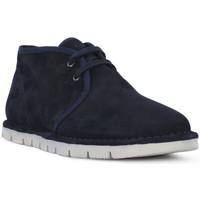 Zapatos Hombre Botas de caña baja Frau SUEDE BLU Blu