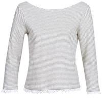 textil Mujer Camisetas manga larga Betty London KARA Blanco / Marino