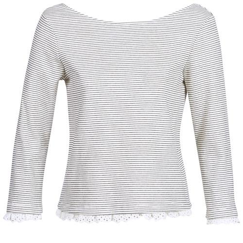Betty London KARA Blanco / Marino - Envío gratis | ! - textil Camisetas manga larga Mujer