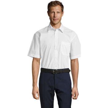 textil Hombre camisas manga corta Sols BRISTOL MODERN WORK Blanco