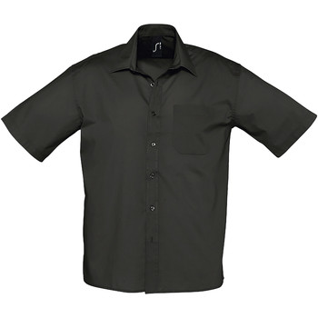 textil Hombre camisas manga corta Sols BRISTOL Negro