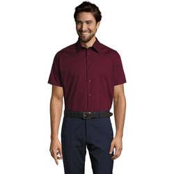 textil Hombre camisas manga corta Sols BROADWAY STRECH MODERN Violeta