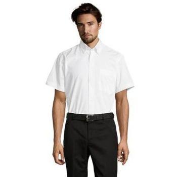textil Hombre camisas manga corta Sols BROOKLYN Blanco