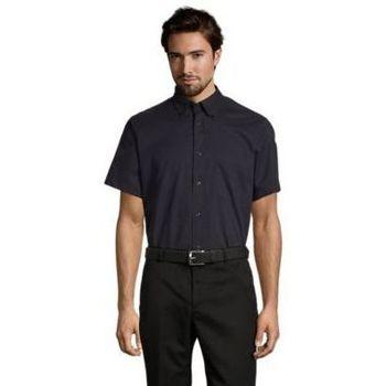 textil Hombre camisas manga corta Sols BROOKLYN TWILL DAY Azul