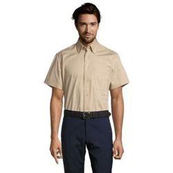 textil Hombre camisas manga corta Sols BROOKLYN TWILL DAY Beige