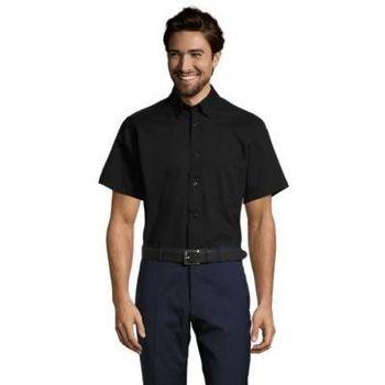 textil Hombre camisas manga corta Sols BROOKLYN TWILL DAY Negro