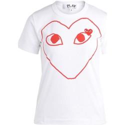 textil Mujer Camisetas manga corta Comme Des Garcons Camiseta de mujer  blanca con corazón Blanco