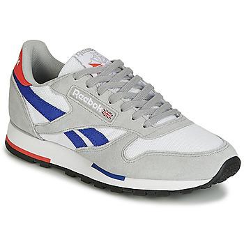 Zapatos Zapatillas bajas Reebok Classic CL LEATHER MU Gris / Azul