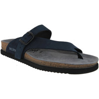 Zapatos Hombre Zuecos (Mules) Mephisto NIELS Nubuck azul marino