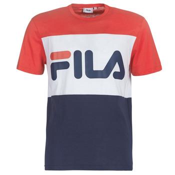 textil Hombre camisetas manga corta Fila DAY TEE Marino / Rojo / Blanco