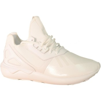 Zapatos Niña Zapatillas altas adidas Originals Tubular Runner Bianche Blanco