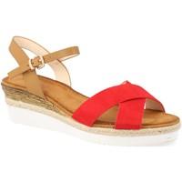 Zapatos Mujer Sandalias Sun Color 810-7 Rojo