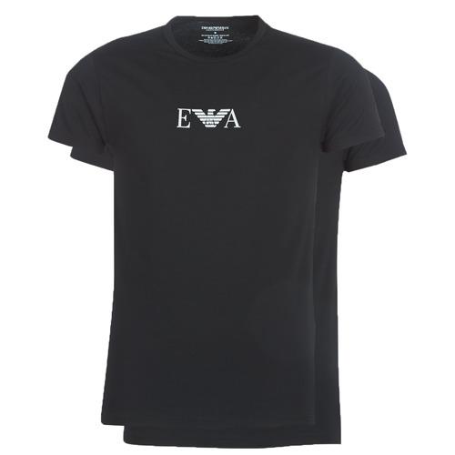 textil Hombre Camisetas manga corta Emporio Armani CC715-PACK DE 2 Negro