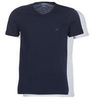 textil Hombre camisetas manga corta Emporio Armani CC722-111648-15935 Marino / Gris