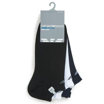 Accesorios textil Hombre Calcetines Emporio Armani CC134-300008-00997 Blanco / Negro / Marino