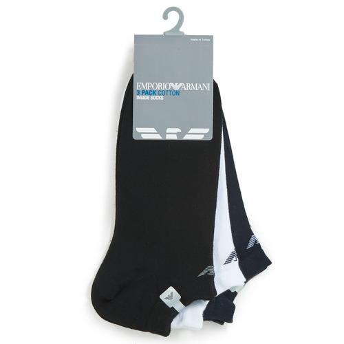 Emporio Armani CC134-300008-00997 Blanco / Negro / Marino - Envío gratis | ! - Accesorios Calcetines Hombre
