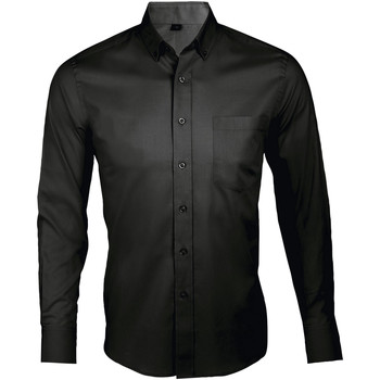 textil Hombre camisas manga larga Sols BUSSINES MEN Negro