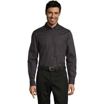 textil Hombre camisas manga larga Sols BUSSINES MEN Gris