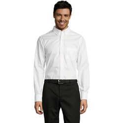 textil Hombre camisas manga larga Sols BUSSINES MEN Blanco