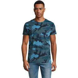 textil Hombre Camisetas manga corta Sols CAMOUFLAGE DESIGN MEN Azul