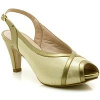 Zapatos Mujer Sandalias Paco Román 19501 Oro