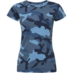 textil Mujer camisetas manga corta Sols CAMOUFLAGE DESIGN WOMEN Azul