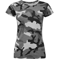 textil Mujer camisetas manga corta Sols CAMOUFLAGE DESIGN WOMEN Gris